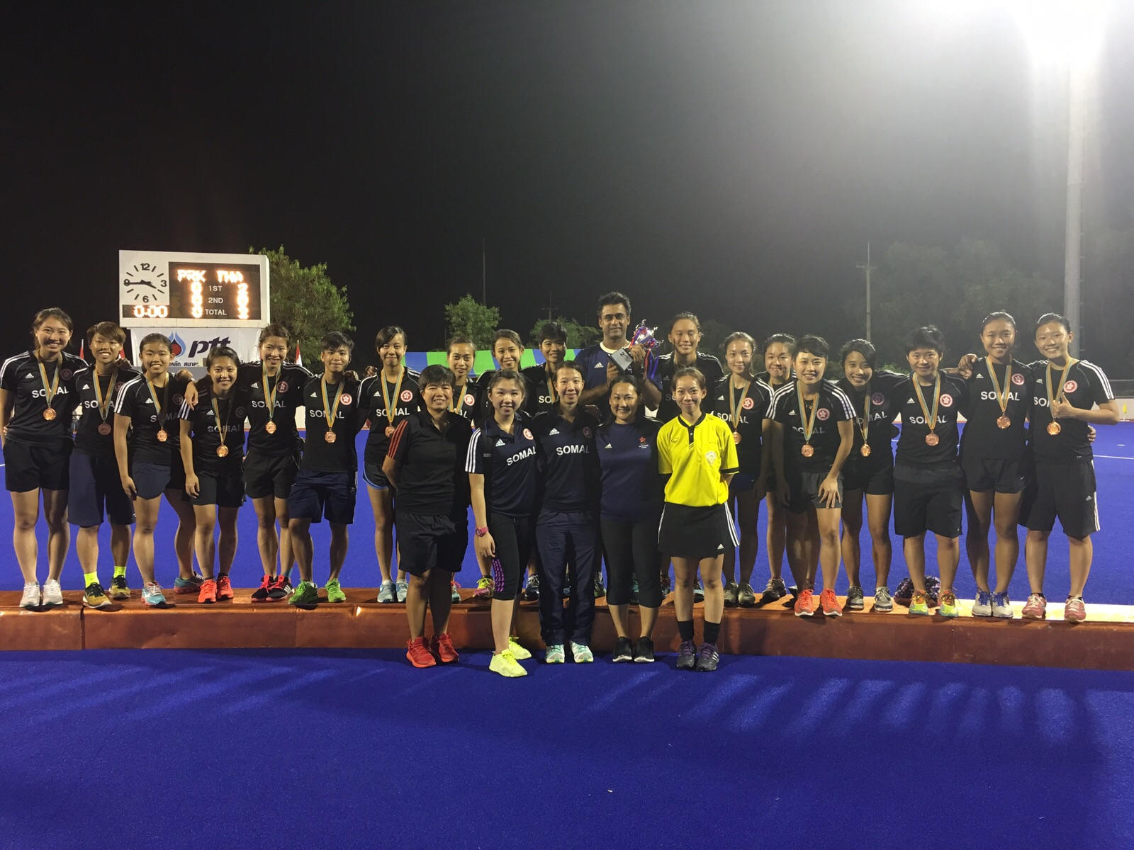Hong Kong Women's National Squad winning Bronze Medal